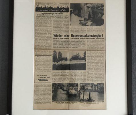 Versteigerungsaktion Originalzeitungsseite der Hildener Zeitung von 1961