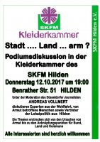 Podiumsdiskussion Stadt … Land … arm?